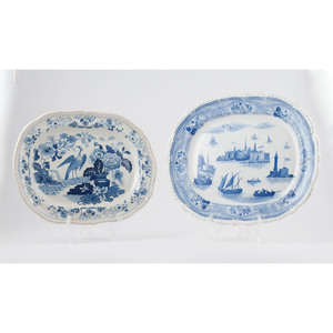 English and Continental Blue and White Platters