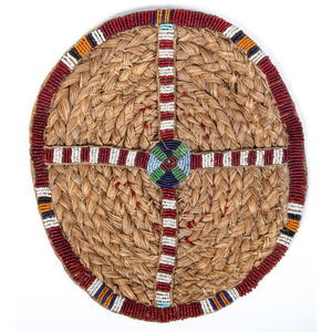 Western Prairie Sweetgrass Beaded Roundel