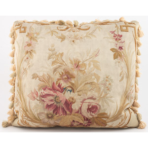 Aubusson and Silk Pillows