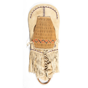 Paiute Beaded Hide Cradle