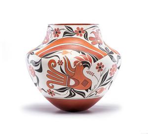 Barbara and Joseph Cerno (Acoma, b. 1951 / b. 1947) Polychrome Pottery Jar