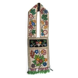 Anishinaabe (Ojibwe) Beaded Bandolier Bag