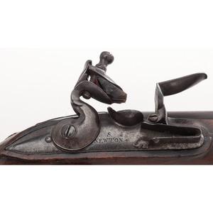 Unusual Early 18th Century Flintlock Pistol by S. Newton
