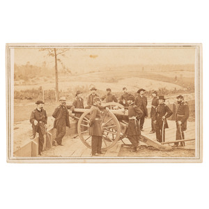 CDV of W.T. Sherman and Staff Outside Atlanta