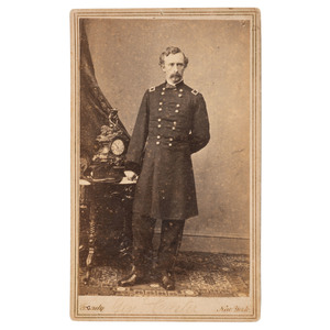 George A. Custer, Civil War CDV by Mathew Brady