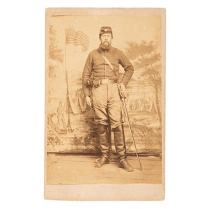 Andersonville POW and Casualty, Alvin R. Coffin, 2nd Massachusetts Cavalry, CDV