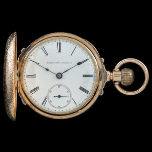 Elgin G.M. Wheeler 14k Gold Hunter Case Pocket Watch