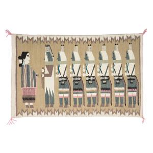 Della Woody Begay Navajo Pictorial Weaving