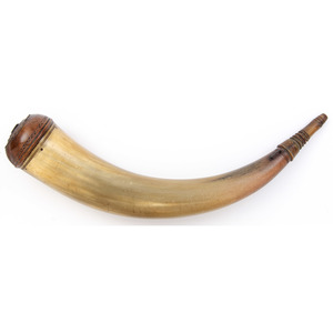 Early 19th Century York County Screw Spout Powder Horn
