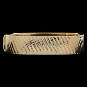 14k Gold Square Bangle Bracelet