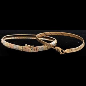 14k Gold Bracelets, Lot of Two