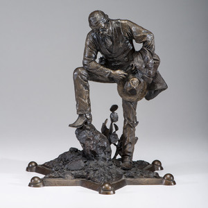 Peace Officers Memorial Bronze by Wes Chapman (American 1925-1995)