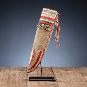 Early Eastern Plains Quilled Hide Knife Sheath