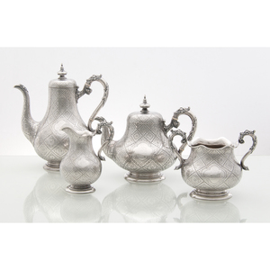 Robert Hennell III Victorian Sterling Tea and Coffee Set