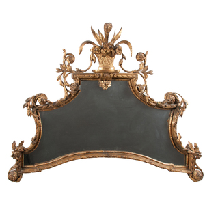 Irish Giltwood Chippendale Mirror