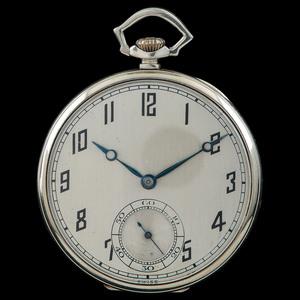 Paul Ditisheim 18k White Gold Pocket Watch