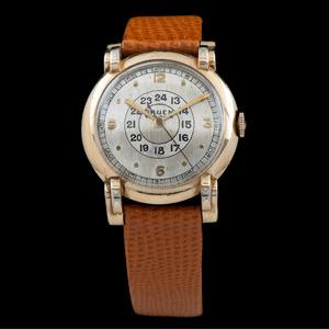 Gruen Veri-Thin Pan American Wrist Watch Ca 1940's