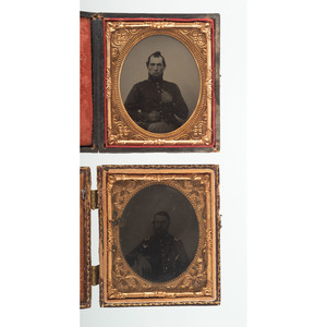 Four Sixth Plate Images of Civil War Soldiers