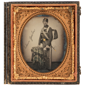 Civil War Sixth Plate Ambrotype of Private John Gassler, New York 8th Infantry