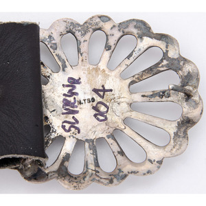 Nellie Tso (Dine, 1932-2011) Navajo Silver and Spiny Oyster Concha Belt, From the Collection of Robert B. Riley, Urbana, IL.