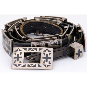 (Cincinnati) Sterling Silver and Jet Concha Belt, From the Collection of Robert B. Riley, Urbana, IL.