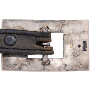 Sterling Silver and Jet Concha Belt, From the Collection of Robert B. Riley, Urbana, IL.