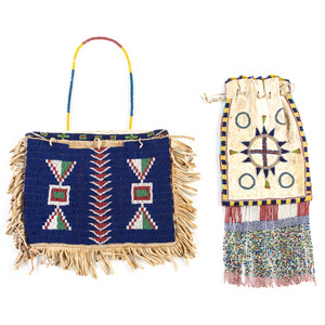 Sioux and Apache Beaded Hide Bags