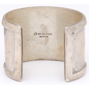 Michael Garcia, Na Na Ping (Yaqui, b.1952) Sterling Silver Cuff Bracelets, From the Collection of Robert B. Riley, Urbana, IL