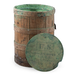Exceptionally Rare Fort Bennett, Dakota Territory Keg Identified to Lieutenant Ralph W. Hoyt