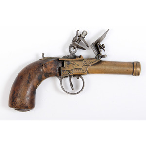 Brass Frame Flintlock Pistol
