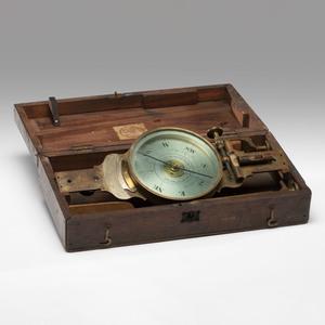 A Brass Surveyor's Compass with Kentucky Interest
