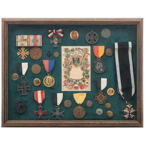 Collection of World War I Service Medals and Buttons