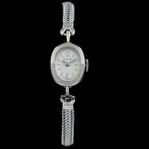 14k White Gold Ladies Watches, Lot of Two