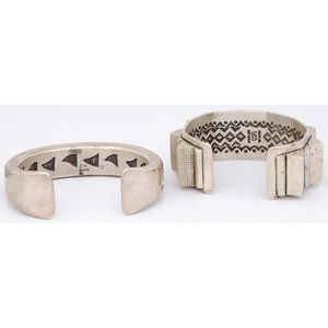 Heavy Sterling Silver Cuff Bracelets, From the Collection of Robert B. Riley, Urbana, IL