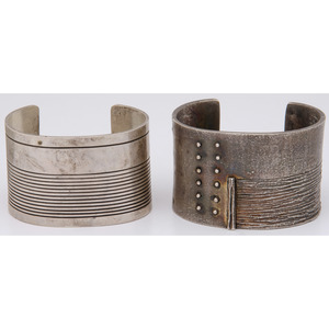 Southwestern Style Silver Cuff Bracelets, From the Collection of Robert B. Riley, Urbana, IL