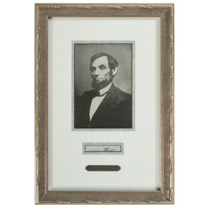 Abraham Lincoln Clipped Signature