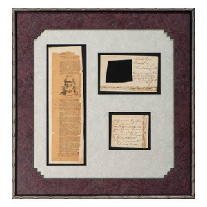Cloth from the Casket of Abraham Lincoln with Provenance, Plus