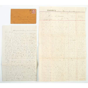 Perry C. Goodrich, 1st Wisconsin Cavalry, Correspondence Incl. Description of Union Plundering