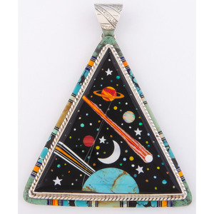 Southwestern Cosmic Inlay Sterling Silver Pendant