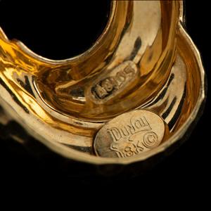 Henry Dunay 18k Gold Earclips