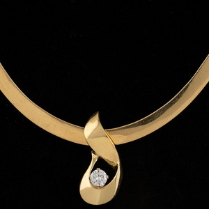 John Atencio 18k Gold Diamond Slide Necklace