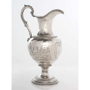 Southern Coin Silver Pitcher, Presented to Charles A.L. Lamar