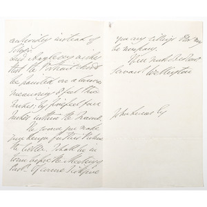 Duke of Wellington ALS, Plus Correspondence Involving the Duke of Wellington Between Lord Mahon (Philip Henry Stanhope) and Lord Cameroon