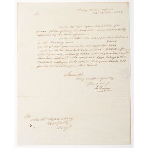 War of 1812 Naval Officer John Rodgers, Manuscript Letter Signed