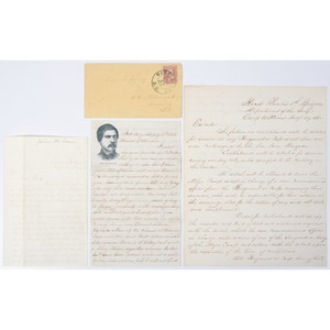 Slavery & Contraband, Trio of Civil War Documents, 1862-1863