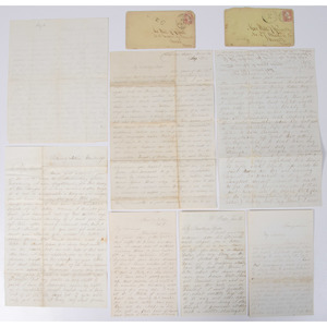 Lot of 13 Civil War Letters of William R. Russell, 4th Vermont Infantry