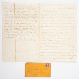 1st Lieutenant David W. Poak, 30th Illinois, Seven War-Date Letters, Incl. Battle of Corinth Content