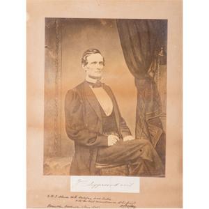 Jefferson Davis War-Date Albumen Photograph with Autograph, Also Signed by CSA General William Preston