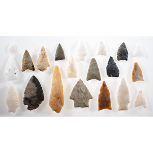 A Group of South Carolina Projectile Points, Longest 3-1/2 in.