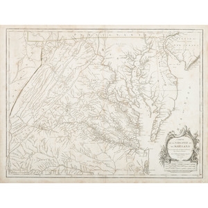 Carte de la Virginie et du Maryland, 1755